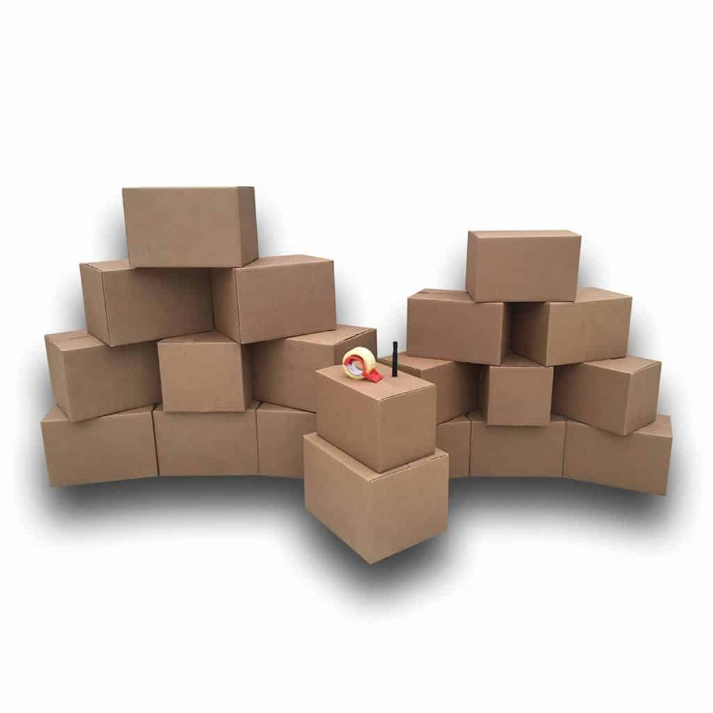 Boxes - uBoxes 1 Room Economy Moving Kit, 15 Boxes, Moving and Packing Supplies (ECOBASICKT01)