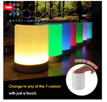 The Portable LED Nightlight Touch Control Bluetooth Speaker